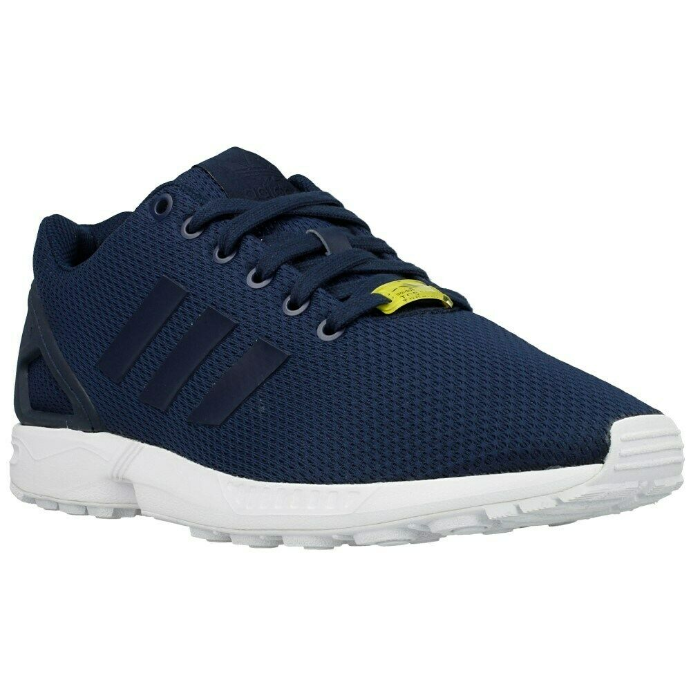 check out 4bceb 693fd Mens adidas Originals ZX Flux Running Gym Trainers Navy Blue M19841 7 - 12  UK 8.5