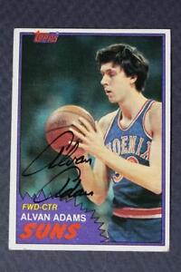 Phoenix Suns Star Alvan Adams signed/autographed 1981-82 Topps card-SO COOL!