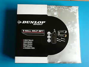 New-Dunlop-Golfers-Golf-Boxed-Gift-Sets-Balls-Tees-Brushes-Ball-Pouch