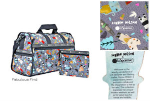 LeSportsac-Donna-Wilson-Singing-In-The-Woods-Large-Weekender-Free-Ship-NWT-G372