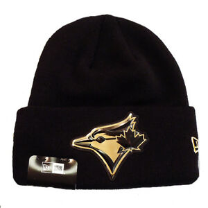 8c8323737 Details about Men's Toronto Blue Jays New Era Beveled Black Gold Beanie  Toque Cuffed Knit Hat