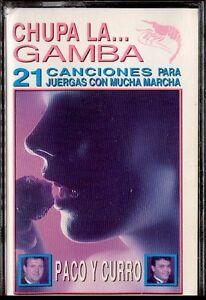 PACO-Y-CURRO-Chupa-La-Gamba-SPAIN-CASSETTE-Musivoz-1993-Tractor-Amarillo