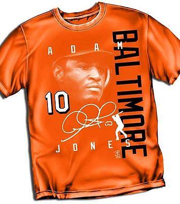 Adam Jones Baltimore Orioles Signature Style T-Shirt - Adult Sizes Brand New