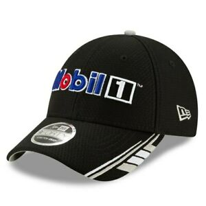 Kevin-Harvick-New-Era-Mobil-1-9FORTY-Snapback-Adjustable-Hat-Black