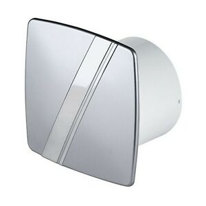 Bathroom-Extractor-Fan-100mm-4-034-Silver-Front-Panel-with-Chrome-Stripe-WLS100