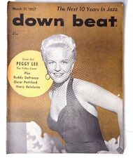Vtg March 21, 1957 DOWN BEAT (Peggy Lee / Buddy Defranco) Music MAGAZINE