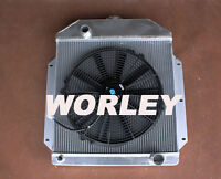 3 Rows Aluminum Radiator + Fan For Ford Pickup Truck Chevy Engine 1942-1952 Mt