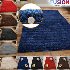 Fluffy Rugs Thick Shaggy Rug Large Living Room Bedroom Soft Floor Carpet Mat