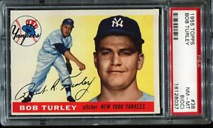 1955-Topps-Baseball-38-BOB-TURLEY-New-York-Yankees-PSA-8-OC-NM-MT