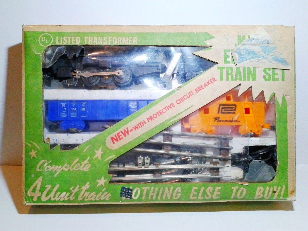 Vintage MARX USA Electric Train Set 4209 Set + Marklin Transformer MIB OVP 1960's