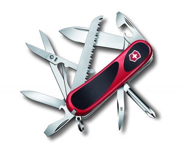 Victorinox 2.4913.CB1 Taschenmesser EvoGrip 18 rot schwarz Messer mit Dosenöffne