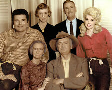 """THE BEVERLY HILLBILLIES 1960s TELEVISION ACTORS 8x10"""" HAND COLOR TINTED PHOTO"""