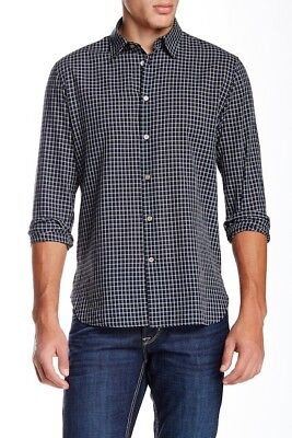 John Varvatos Star USA Men/'s Cobalt Blue Classic Point Button Down Shirt *SK