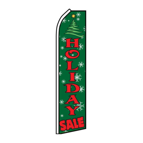 Holiday Sale Advertising Flag Swooper Feather Super Flag Christmas Sale Xmas