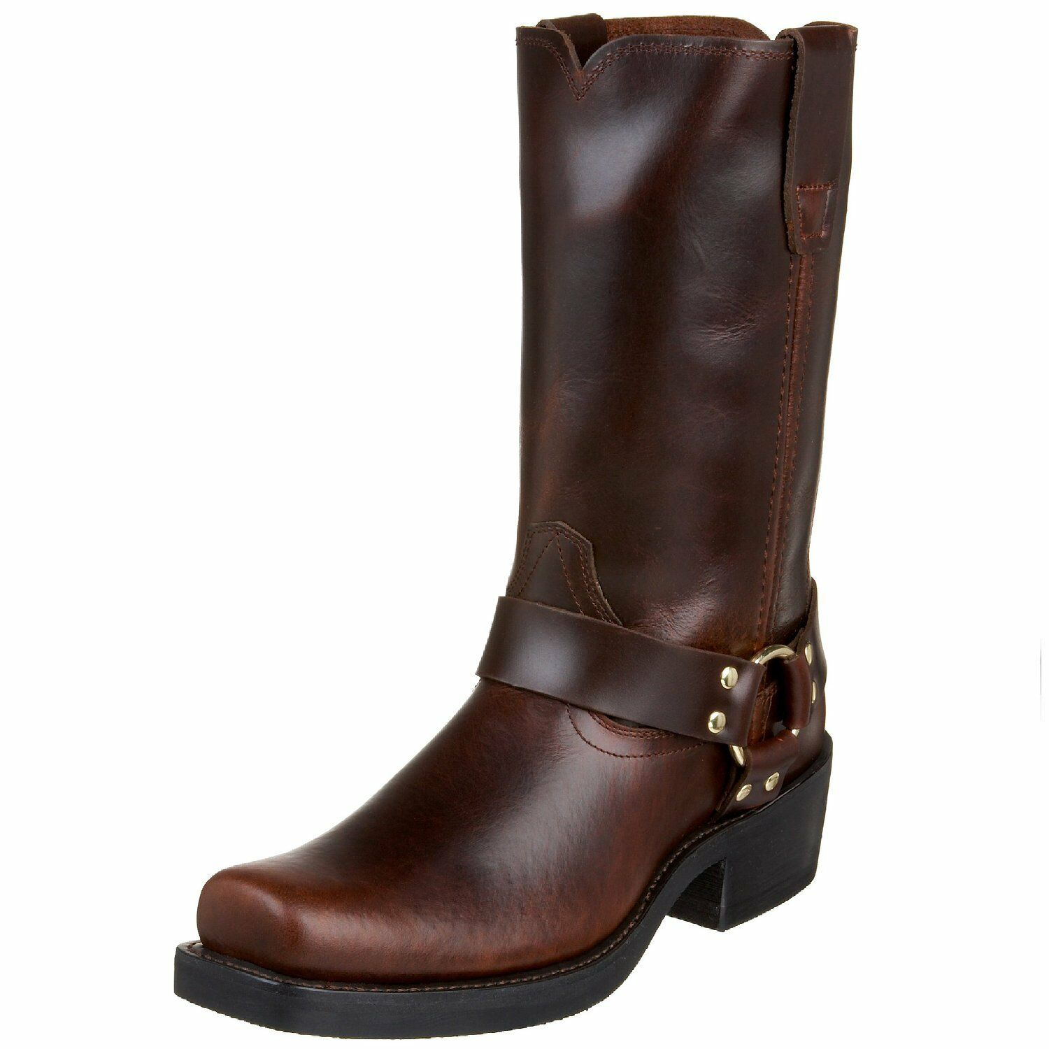 Durango Uomo Tall Motorcycle Harness Stivali Pull Up Rubbed Brown Pelle DB514 EE