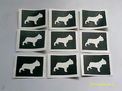 present French bulldog dog face stencils for etching on glass craft hobby