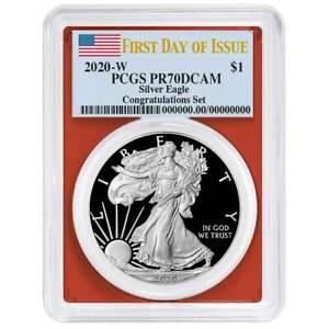 2020-W Proof $1 American Silver Eagle PCGS PR70DCAM First Strike Flag Presale