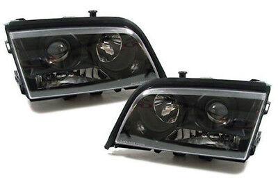 Black color projector headlights front lights for Mercedes C Class W202 93-00