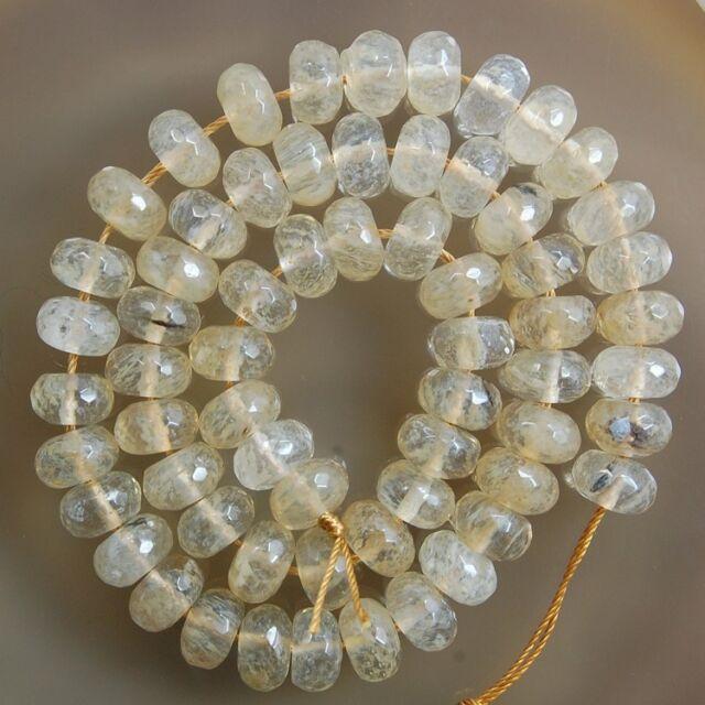 "Faceted Coffee Cherry Quartz Gemstone Rondelle Beads 15"" 4x6mm 5x8mm 6x10mm"
