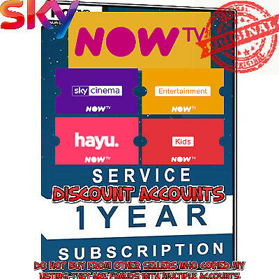 NOW TV 1 YEAR PRIVATE ACCOUNT Subscription worth $598 VPN AVAILABLE TOO Sky Go