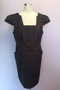 NEW-WITH-TAGS-MARKS-amp-SPENCER-DARK-GREY-DRESS-SIZE-16