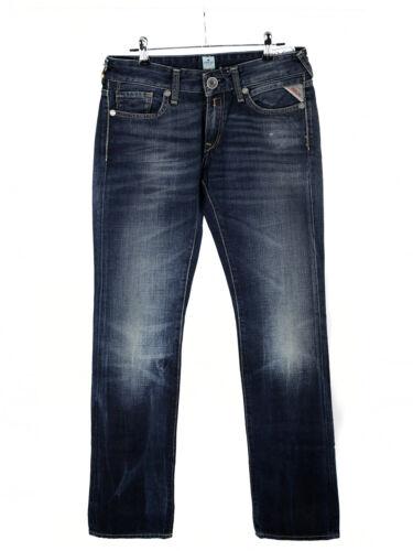 REPLAY Donna Jeans nadie Pantaloni Jeans Pantaloni Straight Fit Blu w26 l32