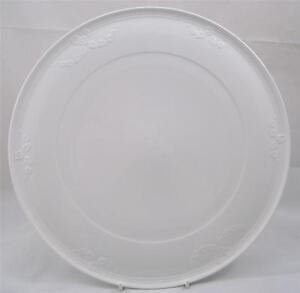 Image is loading Villeroy-&-and-Boch-FIORI-WEISS-white-flat- & Villeroy \u0026 and Boch FIORI WEISS white flat cake plate 33cm   eBay
