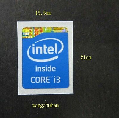 3x Intel Core i7 Sticker 15.5mm x 21mm Haswell Refresh Version