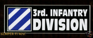 3rd-INFANTRY-DIVISION-ID-BUMPER-STICKER-PIN-UP-DECAL-ZAP-FORT-STEWART-US-ARMY