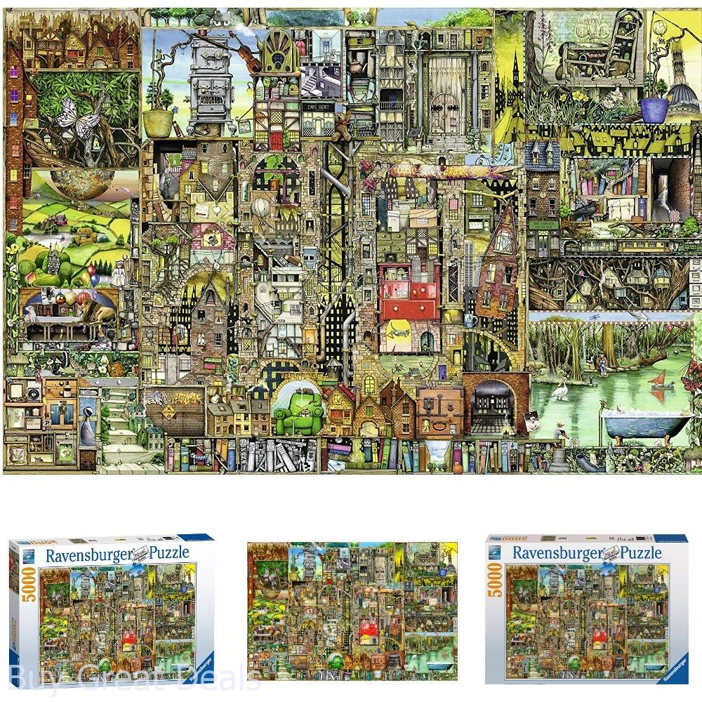 Ravensburger Colin Thompson Kids Puzzle Game, 5000 Pcs BizarreTown Jigsaw Puzzle