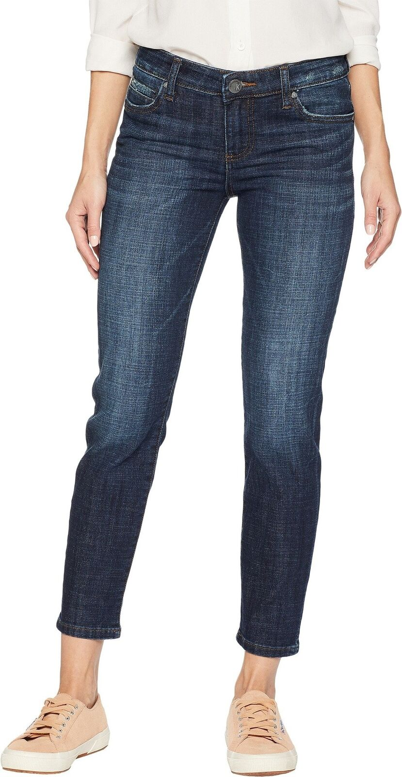 KUT from the Kloth Women's Catherine Ankle Straight Leg Jeans in Intensity In...