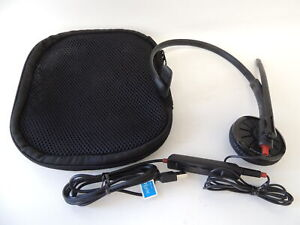 Plantronics-Blackwire-300DA-USB-Headset-W-Microphone-With-Travel-Carry-Case
