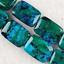 Pretty 10x14mm Azurite Chrysocolla Gemstones Loose Beads 15/'/'