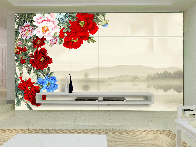 3D Helle Blüten 66787  Fototapeten Wandbild Fototapete BildTapete Familie DE