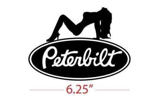 Buy One Get Another Free Peterbuilt Truck Girl Vinyl Decal