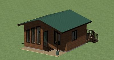 2 BDRM WITH ENERGY SAVING CHECKLIST A-FRAME VACATION CABIN PLANS 1344 SQ.FT