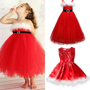 Christmas Tutu Outfits.Kids Baby Girls Christmas Tutu Dress Santa Party Princess