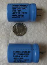 CAPACITOR AL 1200uF 1200MF 63V 105° CAP SNAP IN REPLACEMENT OF 50V 35V 25V