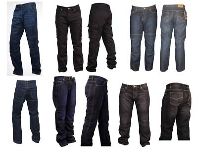 herren motorrad jeans hose motorradhose motorradjeans mit 4x protektoren neu ebay. Black Bedroom Furniture Sets. Home Design Ideas