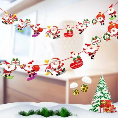 Merry Christmas Tree Flag Door Banner Window Hanging Ornaments Festival Xmas Dec