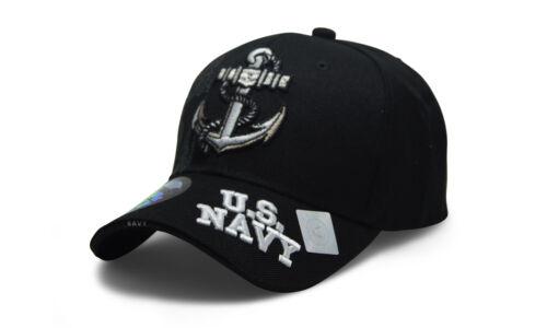 U S NAVY Hat Military NAVY Official Licensed Baseball cap Strapback Black