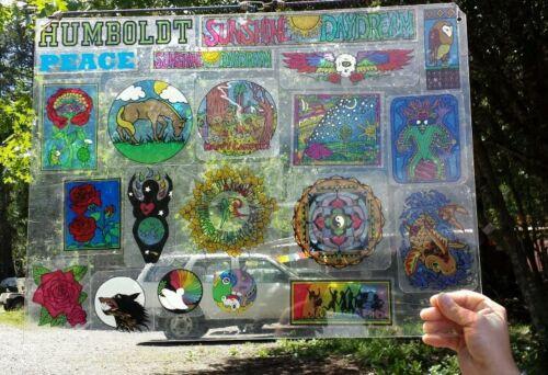 "approx; 8/"" x 1 5//8/"" Grateful Dead Two-way Window Sticker WE WILL SERVIVE"