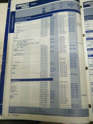 pack of 3 - GFE1103 - Unipart No Austin Montego // Maestro Air Filter