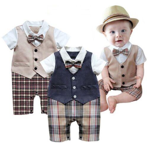 Bébé Garçon Mariage Baptême Formel Tuxedo Costume Outfit robe Vêtements Ange