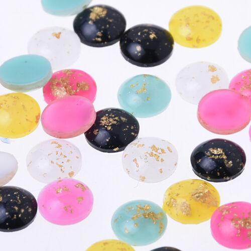 8mm Artificial Opal Hamsa Resin Round Flat Back Opal Cabochon Cameo Cover 50pcs