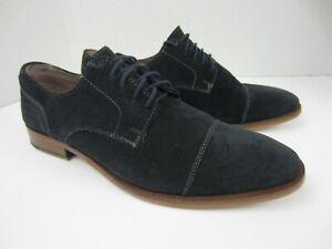 Banana Republic Men's Navy Blue Suede Oxford Shoes 10.5 M
