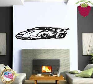 Image Is Loading Wall Stickers Vinyl Decal Sports Muscle Car Racing