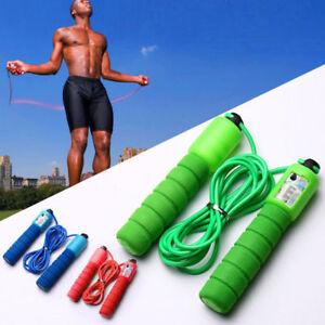 Corda-Per-Saltare-Con-Contatore-Salto-Esercizio-Boxe-Palestra-Fitness-Allenamento-Adulto-Bambino-UK