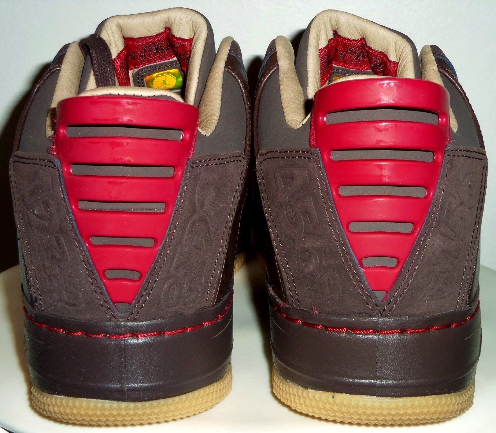 NEW NEW NEW 2008 NIKE AIR JORDAN AJF 20 LOW LS (DRK CINDER  VAR RED) SHOES 11.5 W  BOX 8a7d30