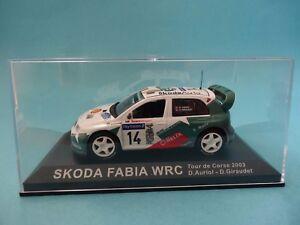 SKODA-FABIA-WRC-14-D-AURIOL-RALLY-TOUR-CORSE-2003-1-43-NUEVO-IXO-ALTAYA